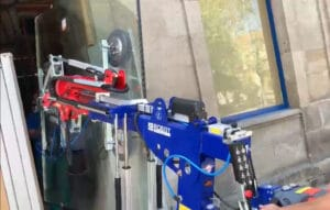 Acceso estrecho robot cristalero